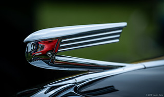 1936 Buick Special Hood Ornament with Red Corvette ©2018 Steven Karp