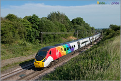 #ridewithpride (Resilient741) Tags: class 390 pendolino virgin trains west coast train wcml main line dutton weaver junction jnc emu electric mulptiple unit 390045 ride with pride ridewithpride railways railway railroad gay celebration