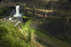 Palouse Falls (Stephen P. Johnson) Tags: eastern washington places palouse palousefallsstatepark event waterblur