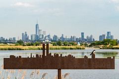The Memorial Skyline (sullivan1985) Tags: newjersey kingsland lyndhurst bergencounty meadowlands meadows treeswallow bird newyork newyorkcity nj ny worldtradecenter freedomtower marsh skyline manhattanskyline afternoon