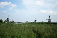 windmills south holland , netherlands , nederland (GJS PHOTOGRAPHY) Tags: nature natural water green grass wind power rotation bridge canal netherlands holland nederland life dutch scene