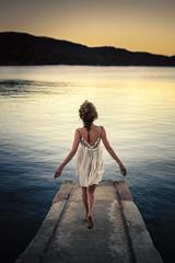 Une Poésie. (FlorianPascual) Tags: ifttt 500px sky water sea sunset woman beautiful beach summer ocean seashore travel