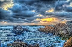 Agitated Sea (Michael F. Nyiri) Tags: pebblebeach california 17miledrive rockyshore sunset ocean