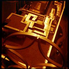 "Library of Birmingham (pho-Tony) Tags: redscale birmingham empirejunior 120 6x6 6cmx6cm rollfilm roll film haking hongkong ""bright – hazy cloudy"" mediumformat lomographyredscale lomo analogue analog ishootfilm medium format libraryofbirmingham library mecanoo centenarysquare burohappold"