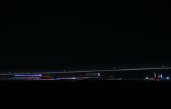 runway 28l taxi p n (pbo31) Tags: bayarea california nikon d810 color june 2018 pbo31 boury night dark black lightstream motion sanfranciscointernational sfo plane aviation flight travel airline airport burlingame shoreline taxi runway line construction closed delay 737 boeing holding southwest alaskaairlines virginamerica detour americanairlines sanmateocounty motionblur