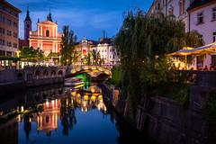 Ljubljana (Chris Buhr) Tags: ljubljana laibach slovenien slovenia capital hauptstadt altstadt city stadt blaue stunde urban blue hour fluss river leica m10 old town