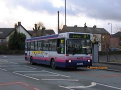 First Pioneer 40302 (N609 XJM) (SelmerOrSelnec) Tags: firstpioneer dennis dart plaxton n609xjm newton hyde talbotroad bayhorse 387 bus qdrivebuses londonbuslines