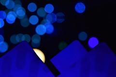 Blue on blue  --  Transit cards    - (maríaelenalópez) Tags: cards transit light christmas