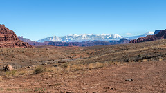 Canyonlands Shafer Trail landscape with La Sal Mountains  02-24-2018 (Jerry's Wild Life) Tags: canyonlands canyonlandsnationalpark islandinthesky lasalmountains potashroad potashroadcanyonlands shafer shafertrail trail utah