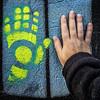 Partners (Melissa Maples) Tags: brussel bruxelles brussels belgique belgië belgium europe apple iphone iphone6 cameraphone winter square 11 graffiti streetart art hands me melissa maples selfportrait woman