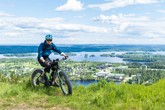 Efatbike on top top of Tahko (VisitLakeland) Tags: finland kuopio mtb tahko bike cbicycle cycling ebike fatbike läskipyötä maastopyörä maisema mountainbike tourism travel