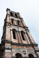 Campanile Cattedrale di San Giorgio - Ferrara (frillicca) Tags: 2018 april aprile bicromia campanile campaniledisangiorgio ferrara leonbattistaalberti marble marmo marmorossodiverona nikkor nikkor18300mmf35 nikond300 prospettiva tower towerbell
