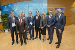 Libor Lochman, Claude Van Rooten, Philippe Martin, Paulius Martinkus, Derek Kan, Melinda Crane, Keith Pitt and Guillermo Dietrich posing for the photo