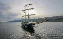 The Lady of Avenel - Fort Augustus (Andy.Gocher) Tags: andygocher uk scotland lochness theladyofavenel thecaledoniacanal thegreatglen fortaugustas tallship clouds