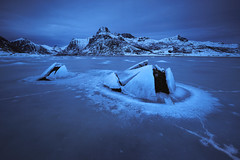 The ice fjord, Lofoten Islands (sven483) Tags: lofoten norway fjord ice cold leknes reine flakstad