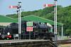 46447 Signals and Warnings (davids pix) Tags: 46447 ivatt lmsr preserved steam locomotive signals semaphore warning signs havenstreet station isle wight railway 2018 26052018