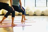 Stock Images (perfectionistreviews) Tags: indoors color horizontal female people primeadult caucasian gym health fitness physical recreation lifestyle workout healthclub yoga mat bend stretch class exercise woman women bodypart photograph physicalfitness lifestylesandart