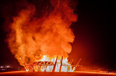 The burn of the temple, #2 (fried oreo cookie) Tags: midburn burningman israel desert art artistic fire burn burning ceremony impressive