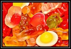 """SWEET HEART..."" - MACRO MONDAYS - 4.6.18 - ""Candy"" (NikonShutterBug1) Tags: macro closeup nikond7100 macromondays tokina100mm spe smartphotoeditor candy haribos sweets heart gummy 7dwf"