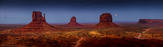Harvest Moon at Monument Valley
