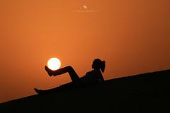 Sun Ball (hisalman) Tags: sun sunset artist silhoutte warm girl playing hisalman salmanahmed
