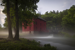 The Mill at Alley Spring (Notley Hawkins) Tags: httpwwwnotleyhawkinscom notleyhawkinsphotography notley notleyhawkins 10thavenue 2018 water shannoncountymissouri landscape rural ozarknationalscenicriverways ozark ozarks alleymill alleyspring morning trees forest greenery tree longexposure neutraldensity statepark nisi nisifilter 11stop mist fog stream evening mistyevening june summer