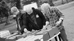 Meadows Festival 2018 03 (byronv2) Tags: candid street peoplewatching blackandwhite blackwhite bw monochrome meadows meadowsfestival meadowsfestival2018 festival park edinburgh edimbourg scotland records album vinyl music browsing man