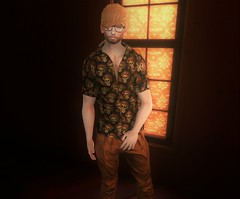 In My Feelings (EnviouSLAY) Tags: buttonup button up orange fall macabre black pleated trousers pants blond tt toritorricelli tori torricelli ascend burley tmd newreleases new releases themensdepartment the mens department fameshed dark belleza bento lelutka mensmonthly mensfashion mensfair mensevent monthlyfashion monthlyfair monthlyevent monthlymen monthly event fair men pale male gay blogger secondlife second life fashion photography