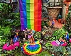 pride Barbies! (ekelly80) Tags: dc washingtondc spring june2018 barbies qstreetbarbies pride rainbows flag