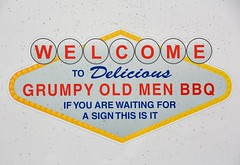 Welcome to Delicious Grumpy Old Men BBQ (rabidscottsman) Tags: scotthendersonphotography sign bbq grumpyoldmen mn minnesota owatonnaminnesota steelecountyfairgrounds welcome creativity saturday weekend nikon nikond7100 d7100 tamron tamron18270 18270