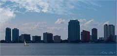 A view of Miami South channel in the afternoon. (Aglez the city guy ☺) Tags: brickellbay cityscapes miamifl afternoon architecture building sailboat city clouds outdoors waterways walkingaround urbanexploration