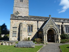 Church - St Mary, Kirkby Lonsdale 180405 [entrance] (maljoe) Tags: church churches stmarys kirkbylonsdale stmaryskirkbylonsdale stmaryschurchkirkbylonsdale stainedglass stainedglasswindow stainedglasswindows