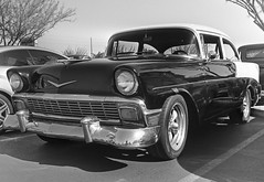 56 Chevy (magnetic_red) Tags: cars film blackandwhite zenzabronicas2a mediumformat rodinal standdeveloped arista100 weekendcarshow