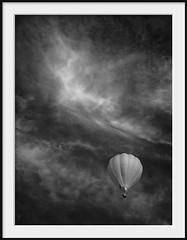mongolfiera (Andrew C Wallace) Tags: mongolfiera hotairballoon flight balloon ir infrared blackandwhite bw olympusomdem5 olympus40150f28 microfourthirds m43 thephotontrap yarraglen yering yarravalley melbourne victoria australia clouds cloudscape