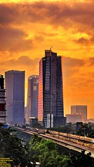 ..bathing in gold.. (Ferry Octavian) Tags: canon eos 750d rebel t6i dslr landscape street shot travel trip outdoor noflash handheld explore color colour efs 1855 stm metro metropolis city cityscape modern building skyscraper tower architecture design structure exterior icon landmark sun sky skyline horizon orange golden hour beautiful cloud cloudy portrait sunrise jakarta indonesia capitalcity dki dkijakarta java southeast asia room view kuningan rasuna said satrio kasablanka anhotel hotel fly over elevated road traffic jlnt morning