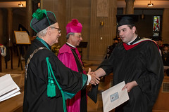 Rev. Mr. Ian McElrath received his Master of Divinity Degree from St. Mary's Seminary & University on May 17, 2018 (Photo credit:  Larry Canner Photography)