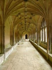 Harry Potter's Corridor (Marit Buelens) Tags: architecture cloisters nunnery lacockabbey filminglocation harrypotter harrypotterandthephilosophersstone hogwarts corridor middleages medieval ela nationaltrust uk england wiltshire lacock