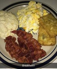 Breakfast = Farm Fresh Scrambled Eggs, Crispy Bacon, Hashbrowns & Biscuits with Strawberry Jam  #foodie #food #foodaddict #yum #delicious #homecooked #foodaholic #foodporn #foodgasm #foodstagram #instafood #foodphoto #foodblogger #foodmania (okieapache70) Tags: foodie food foodaddict yum delicious homecooked foodaholic foodporn foodgasm foodstagram instafood foodphoto foodblogger foodmania