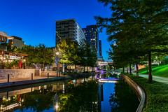 The Morning Blues (Woodlands Photog) Tags: woodlandswaterway thewoodlands texas waterway cityscape bluehour sunrise night long exposure