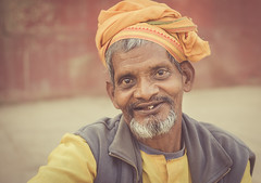 along the ghats (andy_8357) Tags: sony a6000 6000 ilcenex ilce6000 mirrorless portrait portraiture street natural light kind open face teeth warmhearted warm simple sigma 60mm f28 dn art dof shallow eyes friendly friendliness character man varanasi india indian goatee beard ganga ganges mother e mount emount people person