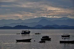 all my passions... layers, boats, ripples, water... (Ruby Augusto) Tags: boats layers mountains bay ripples sunset silhuetas silhouettes