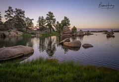 Sunset Waltz - Dowdy Lake - Red Feather Lakes, Colorado (www.rootsstudiophoto.com) Tags: redfeatherlakes dowdylake granite geology sunset rockymountains colorado coloradophotography lake reflection solitude mountainlake landscapephotography frontrange larimercounty