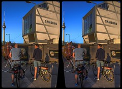 Berlin bicyclists 3-D / CrossView / Stereoscopy / HDR / Raw (Stereotron) Tags: berlin spreeathen mitte metropole hauptstadt capital metropolis brandenburg city urban streetphotography citylife fahrrad bicycle abendsonne europe germany deutschland crosseye crossview xview pair freeview sidebyside sbs kreuzblick 3d 3dphoto 3dstereo 3rddimension spatial stereo stereo3d stereophoto stereophotography stereoscopic stereoscopy stereotron threedimensional stereoview stereophotomaker stereophotograph 3dpicture 3dimage twin canon eos 550d yongnuo radio transmitter remote control synchron kitlens 1855mm tonemapping hdr hdri raw