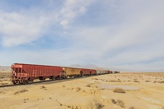 The 3:10 to Trona (garshna) Tags: train sky clouds desert traincars freightcars freighttrain tronacalifornia
