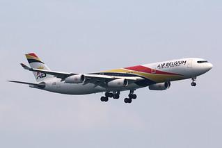 OO-ABB Air Belgium A340-300, Hong Kong