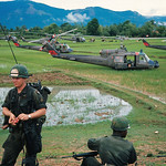 An Khe 1966 - US Troops Landing in Vietnamese Rice Paddy thumbnail