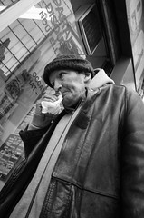 Flu (gergelytakacs) Tags: apsc eu europe europeanunion france gr paris parisian parisien parisienne ricoh bw black blackandwhite blancoynegro bystander calle candid city cold compact documentary fixedlens flu flâneur hat influenza kleenex monochrome mucus noiretblanc nose old paper papertissue photo photography portrait primelens public rue runny sick sickness snot space strada stranger strasenfotografie street streetphotographer streetphotography streetphotgrapher streetphotgraphy streetphoto streets streetscape tissue ulica unposed urban urbanphoto urbanphotographer urbanphotography utcafotó white îledefrance улица רחוב