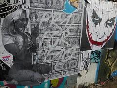 zoer (Visual Chaos) Tags: zoerscicrew zoer zoersci sci scicrew sticker wheatpaste graffiti losangelesgraffiti vermontartdistrict joker virtual selfie blonde southcentralla john146 trump peace