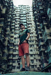 The hero selfie shot. (Matthias Dengler || www.snapshopped.com) Tags: matthias dengler snapshopped hong kong china asia urban city cityscape dark documentary explore discover travel create pattern structure house block architecture sight dramatic selfie hero shot ghost sheel shell quarry bay monster building