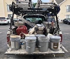 Loaded (ricko) Tags: load truck pickup buckets ladders junk mess